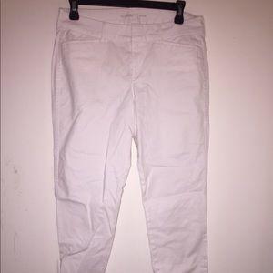 Old navy linen white pixie capris